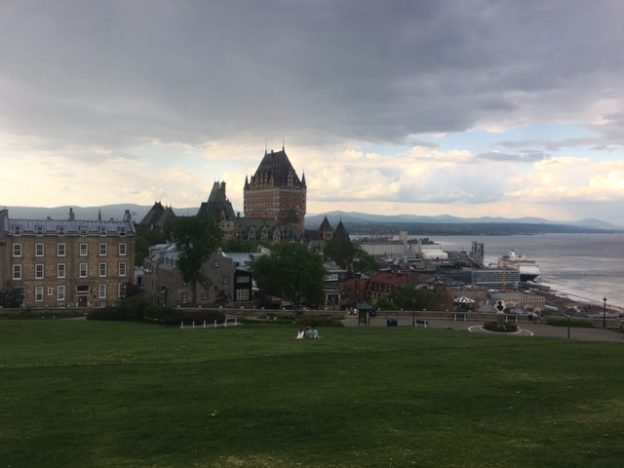 Overlooking Old Quebec City with the Chateau de Frontenac in the back